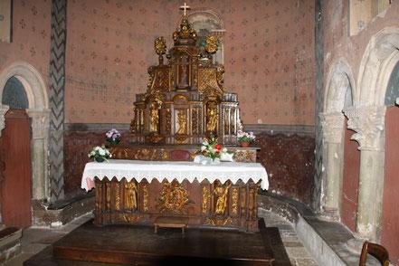 Bild: Altar in der Église Saint-Christophe de Vianne