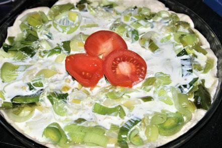 Bild: Rezept Lauchquiche mit Tomaten