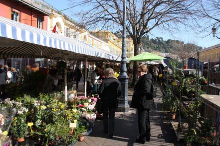 Bild: am täglichen Markt in Nice