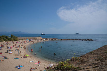 Bild: Plage de la Gravette am Port Vauban in Antibes
