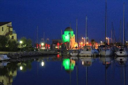 Bild: Gruissan Hafen bei Nacht