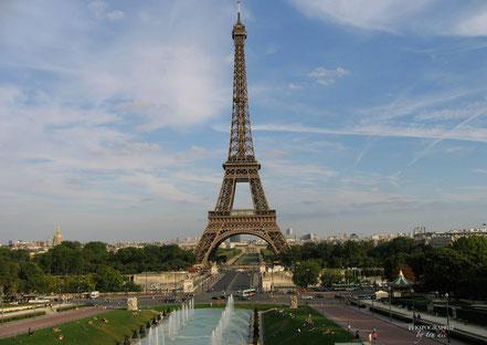 Bild: Blick von Trocadéro zum Eiffelturm