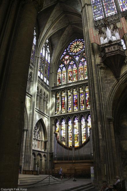 Bild: Kathedrale Saint-Etienne in Metz  mit Renaissance-Orgel