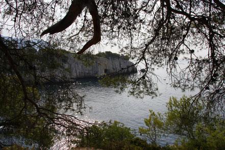 Bild: Blick auf die Einfahrt zur Calanque de Port Pin