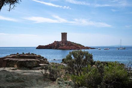 Bild: Blick au die Île d´Or, Massif de l´Estérel