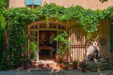 Restauranteingang von der Terrasse