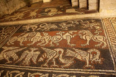 Bild: Mosaikboden in der Prieuré de Notre Dame de Ganagobie