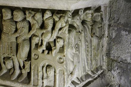 Bild: Sarkophag in  Saint-Hilaire