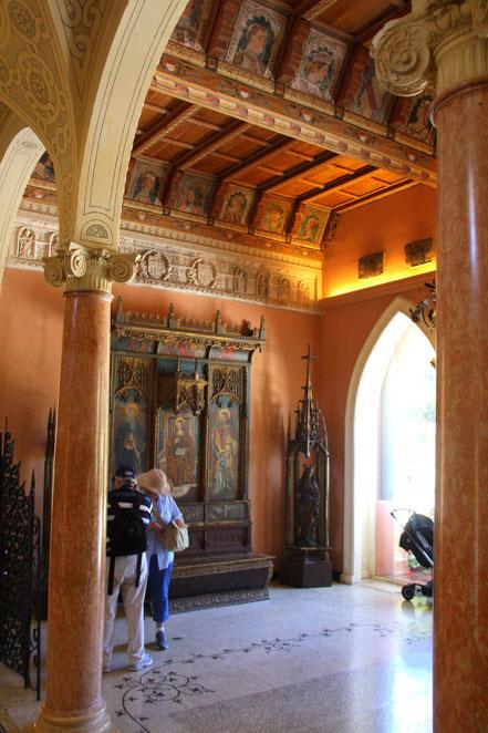 Bild: Eingang zur Villa im Musée Ephrussi de Rothschild