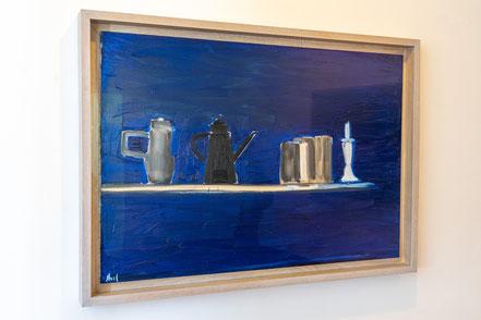 Bild: Regal in blau von Nicolas de Stael im Musée Picasso in Antibes