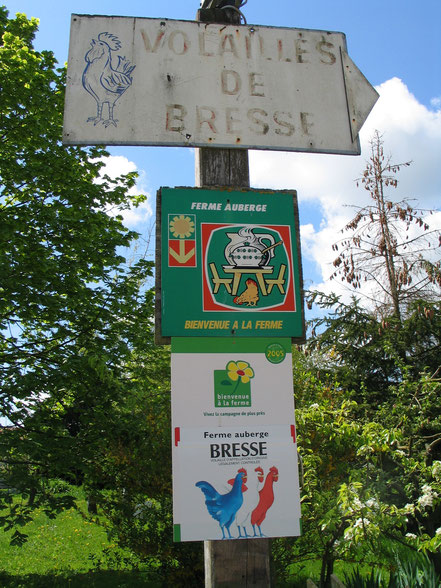 Bild: Schild eines Züchters von Bresse-Geflügel