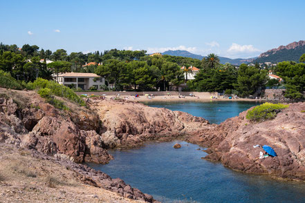 Bild: Tiki Plage in Saint-Raphael, Massif de l´Estérel