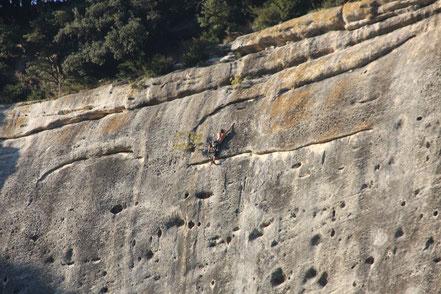 Bild: Kletterer bei Buoux