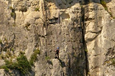 Bild: Kletterer in der Calanque d`En Vau