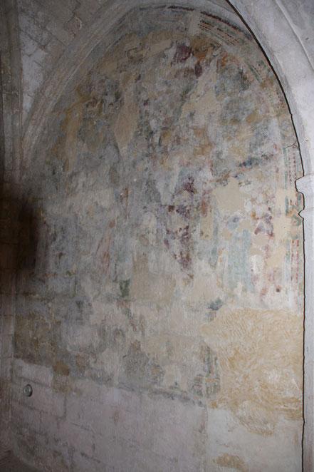 Bild: Fresken in der Abbaye de St-Hiliare bei Ménerbes
