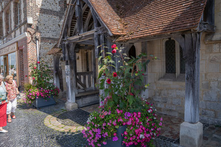 Bild: Honfleur im Département Calvados in der Normandie  hier Église Sainte-Catherine hier Musée de la Marine