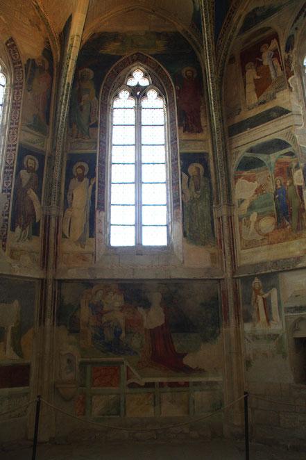 Bild: Freskenkapelle in der Chartreuse Pontificale du Val de Bénédiction in Villeneuve-lés-Avignon