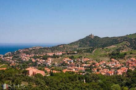 Bild: Blick auf Collioure von der Route des Crêtes