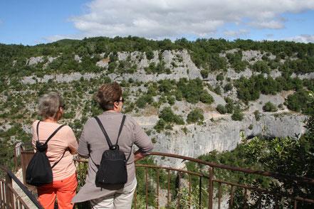 Bild: Aussichtspunkt an der Gorges d´Oppedette