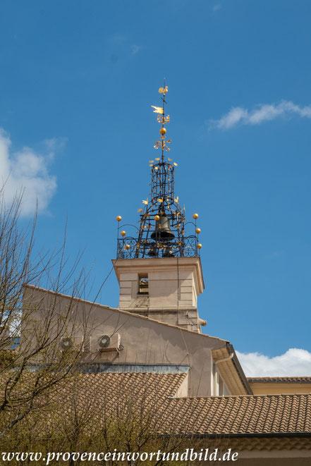 Bild: Glockenturm auf dem Hôtel de Ville in Orange