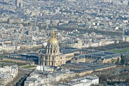 Bild: Ausblick vom Tour Montparnasse auf den Invalidendom