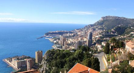 Bild: Blick von der Grande Corniche auf Monaco