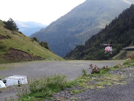 Unser Standplatz am Hubschrauberlandeplatz