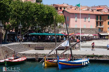 Bild: Hafen und Strandpromenade von Collioure