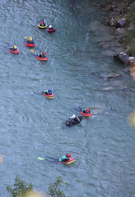 Bild: Wassersport in den Verdonschluchten