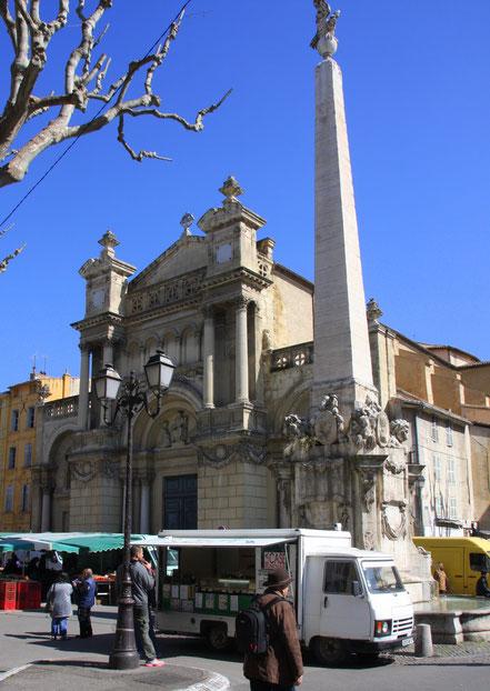 Bild: Portal der Église de la Madeleine aus dem 17. Jahrhundert in Aix-en-Provence