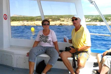 Bild: Auf der Bootsfahrt in den Calanques
