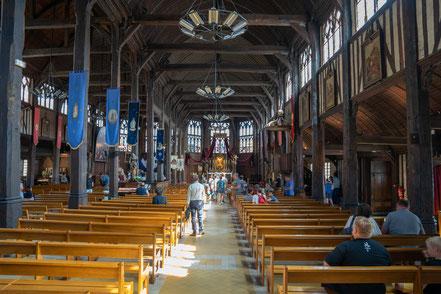 Bild: Honfleur im Département Calvados in der Normandie hier das Innere der Église Sainte-Catherine