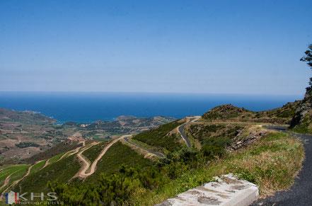 Bild: Route des Crêtes bei Collioure