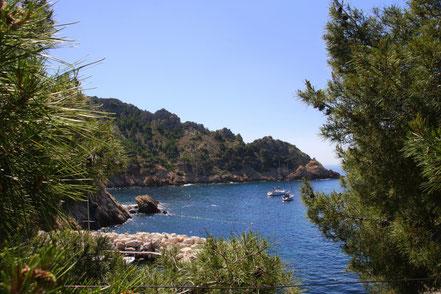Bild: Blick auf Cap Méjean, links die Buchten Petit und Grand Méjean