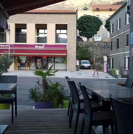 Bild: Supermarkt Proxi in Cozzano auf Korsika