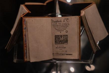 Bild: Salon-en-Provence, Maison de Nostradamus, die Centurien von 1555