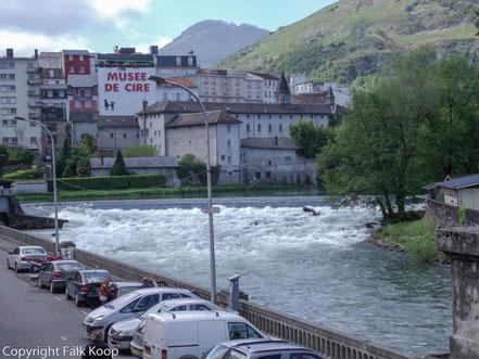 Bild: Blick auf das Musée de cire in Lourdes
