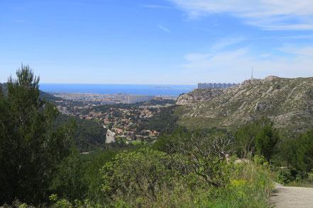 Bild: Blick von der D559 auf Marseille