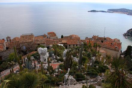 Bild: Blick auf Èze vom exotischen Garten aus
