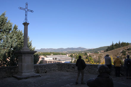 Bild: Aussichtsplatz in Vaison-la-Romaine