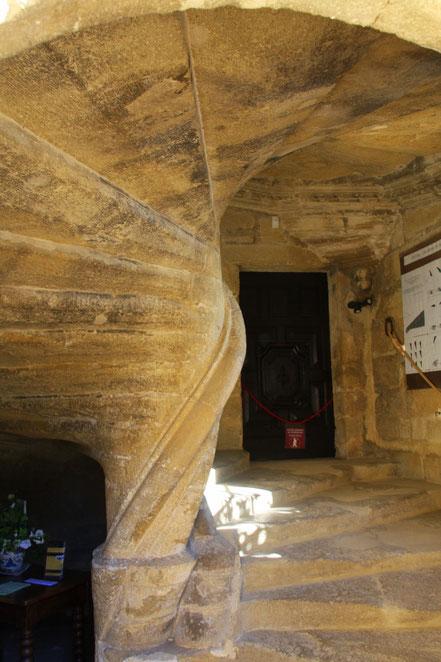 Bild: Wendeltreppe im Château Lourmarin