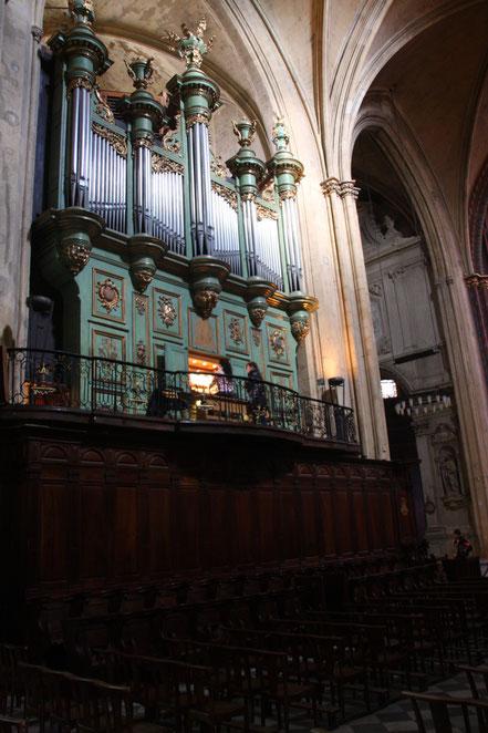 Bild: Orgel der Cathédrale Saint Sauveur in Aix-en-Provence