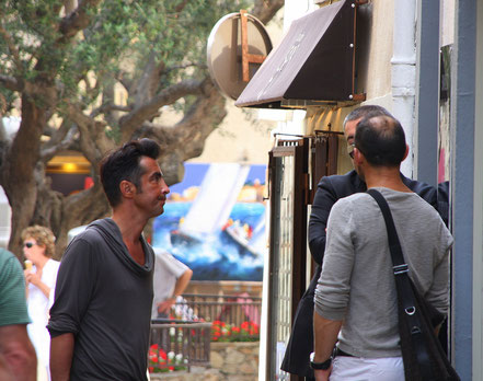 Bild: Saint-Tropez Straßenszene