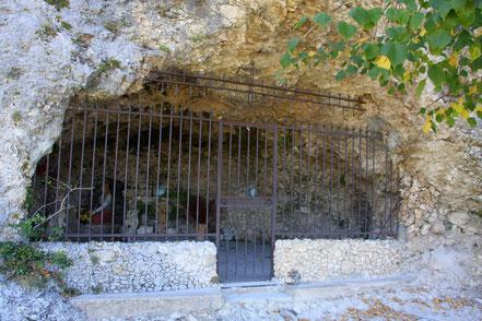 Bild: Grotte Ste. Madeleine in Moustiers-Sainte-Marie