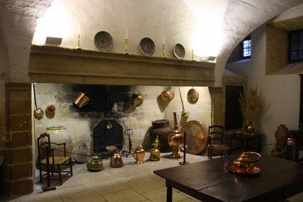 Bild: Schlossküche von Schloss Lourmarin