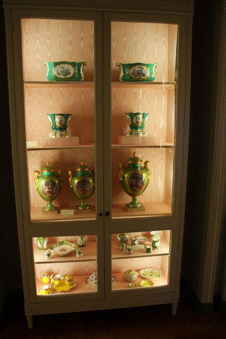 Bild: Porzelan im Musée Ephrussi de Rothschild