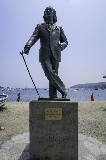 Bild: Denkmal von Salvador Dali in Cadaqués in Katalonien/Spanien