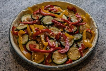 Rezept: Quiche mit Zucchini und Paprika