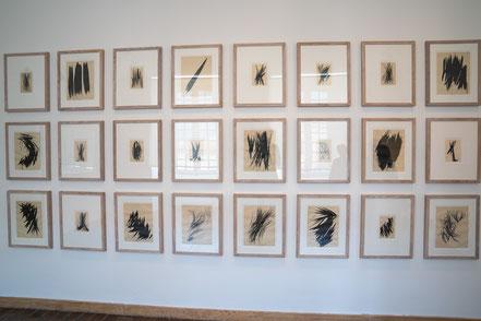 Bild: Bilder ohne Titel von Hans Hartung im Musée Picasso in Antibes