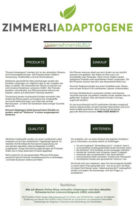 Unternehmenskultur, Produkte, Einkauf, Qualität, Kriterien